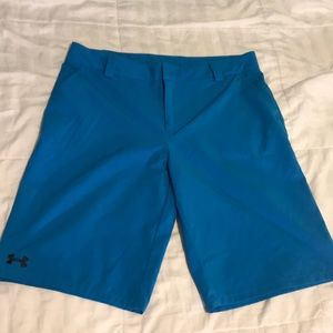 UNDER ARMOUR SIZE YOUTH XL blue shorts